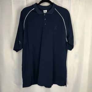 Adidas Men's New York Yankees Blue Polo Shirt